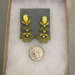 Talbots dangle lemon/lime green earrings